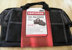 Craftsman 16 & 20 in. Tool Bag Combo - Wide Opening Design 927851 for Sale in Lewis Center, OH