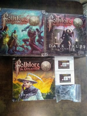 Folklore: The Affiliation 1st Edition + Dark Tales + Farmer Bundle + Miniatures + Extras for Sale in Bothell, WA