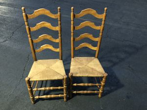 6 Antique ladderback chairs for Sale in Pittsburgh, PA