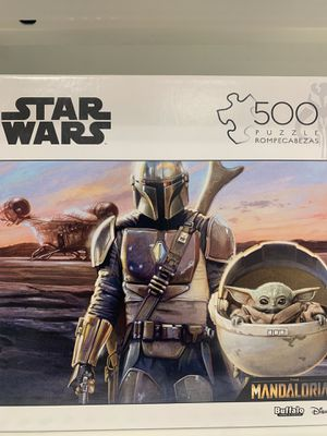 NEW DISNEY Star Wars The Mandalorian Baby Yoda 500 Piece Puzzle Buffalo Games for Sale in Wethersfield, CT