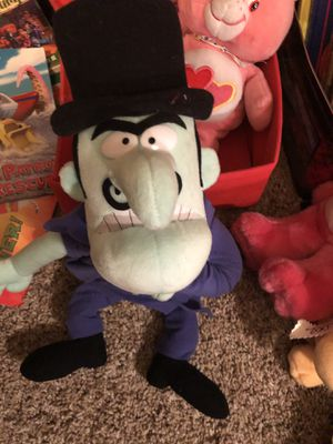 Snidely Whiplash (Rocky and Bullwinkle) plush doll ! Very hard to find ! for Sale in Phoenix, AZ
