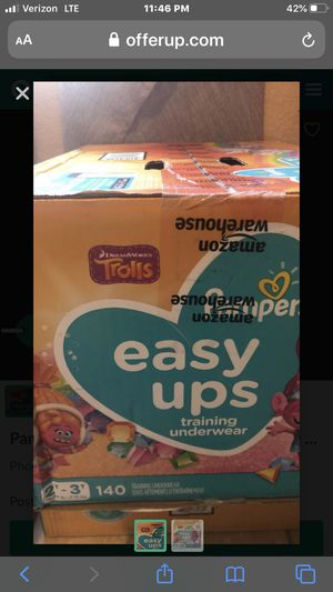 Pampers easy ups for Sale in Scottsdale, AZ