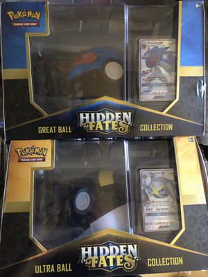 BRAND NEW Pokemon Hidden Fates Ultra Great Ball Collection for Sale in Moreno Valley, CA