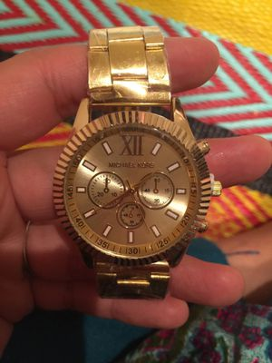 Mk Michael kors gold tone watch unisex for Sale in Silver Spring, MD