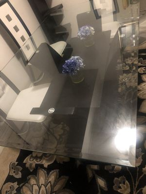 Dining ROOM GLASS TOP TABLE - CHECK my OTHER LISTINGS for Sale in Hyattsville, MD