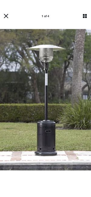AmazonBasics Commercial, Propane 46,000 BTU, Outdoor Patio Heater with Wheels, Havana Bronze for Sale in Queens, NY