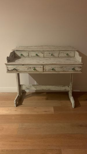 Vintage antique reclaimed wood shabby chic desk for Sale in Los Angeles, CA