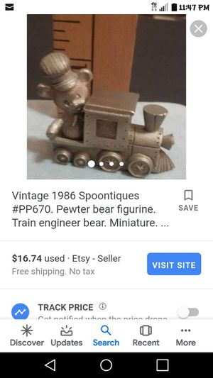 Vintage Spoontiques Pewter Bear Engineer for Sale in Fort Worth, TX