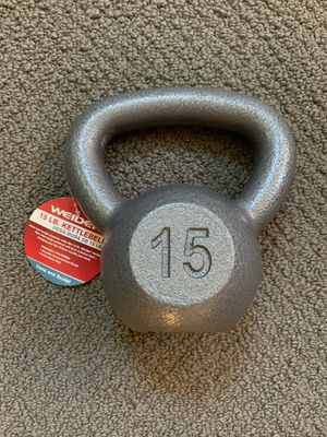 15 lb Iron Kettlebell Gym Weight Brand New for Sale in Oak Park, IL
