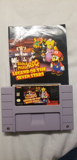 Super Mario RPG Legend of the Seven Stars With Manual Authentic for Super Nintendo SNES for Sale in Plymouth, NH