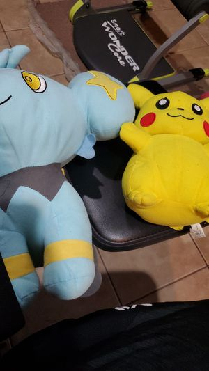 Pikachu and Shinx pokemon plushies for Sale in IL, US