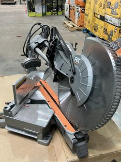 RIDGID 15 Amp Corded 12 in. Dual Bevel Sliding Miter Saw with 70 Deg. Miter Capacity and LED Cut Line Indicator for Sale in Las Vegas,  NV
