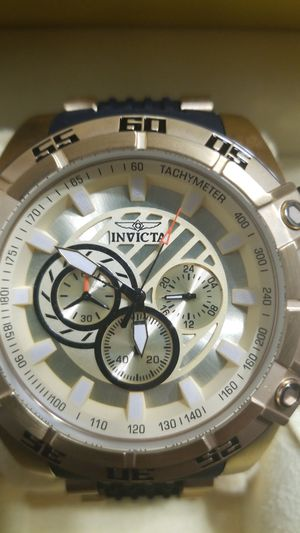 Invicta men 52 mm gold and black brand new never worn still in the box for Sale in Wolcott, CT