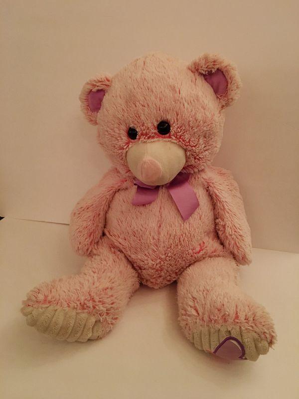Pink Heart Cuddle Teddy Bear Large Stuffed Animal Toy