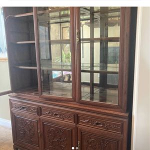 Solid Rosewood China Cabinet for Sale in Huntington Beach, CA