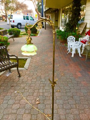Antique art glass floor lamp bridge lamp for Sale in Fresno, CA