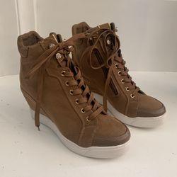 Guess Womens Brown Suede Wedge Sneaker for Sale in Hawaiian Gardens,  CA