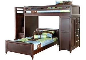 Ivy league bunk bed from Rooms To Go chest and desk for Sale in Fort Worth, TX