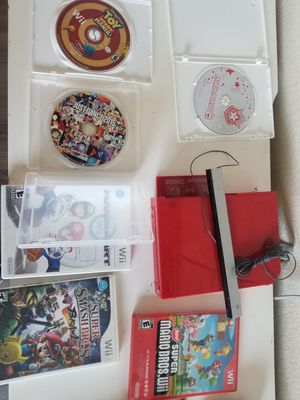 Red Nintendo wii + bundle for Sale in San Diego, CA