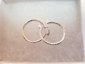 Diamond cut hoop earrings for Sale in Villa Park, IL