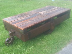 Antique Nutting Lumber Cart Coffee Table for Sale in Seattle, WA