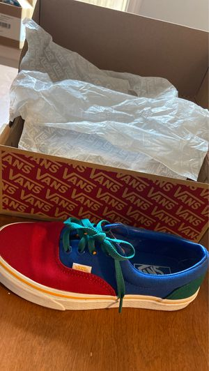 Colorfull Vans Era , Green red & yellow Size 6.0 Men and 7.5 Women for Sale in Columbus, OH