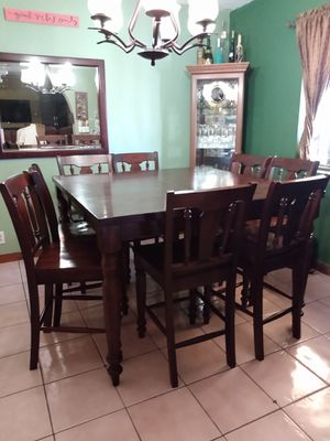 Dinning set of solid wood of 8 chairs for Sale in Phoenix, AZ
