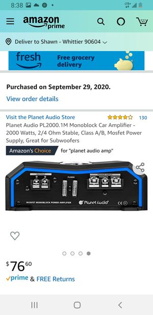 Planet audio pl2000 amplifier for Sale in Whittier, CA