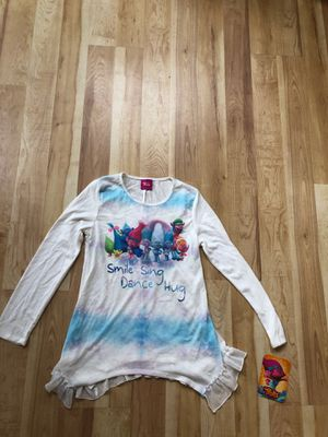 Trolls NEW sweater girls large 14 porch pickup for Sale in Old Bridge Township, NJ