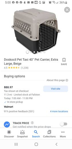 large dog crate for Sale in Middle River,  MD