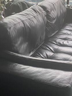 Black Natuzzi Leather Couch for Sale in Atlanta,  GA