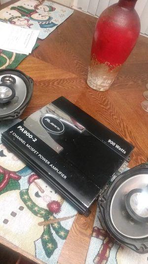 900 Watt Almani Amp 2 Kenwood 3 Way 6 x 9 Speakers for Sale in Rialto, CA