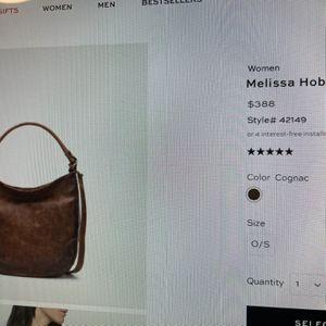Frye Melissa Hobo Bag for Sale in Pennsauken Township, NJ