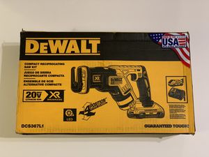 DEWALT MAX 20-Volt Lithium-Ion Cordless Brushless Compact Reciprocating Saw Kit DCS367L1 for Sale in Garden Grove, CA