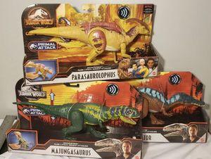 Jurassic World Irritator Majungasaurus Parasaurolophus dinosaurs for Sale in Lynwood, CA