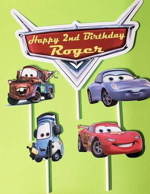 Disney Cars Cake Topper Party Decorations for Sale in Inglewood, CA