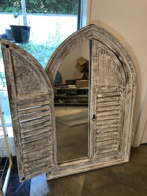 Decorative Mirror with wooden shutters for Sale in Austin, TX