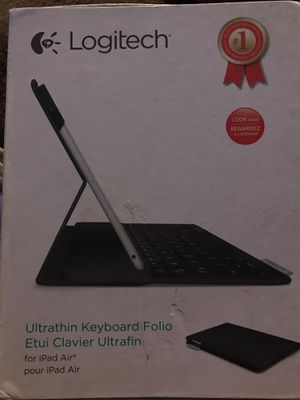 Logitech Ultrathin keyboard folio for iPad Air for Sale in North Charleston, SC