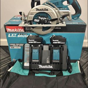 Makita 18-Volt X2 LXT 5.0Ah Lithium-Ion (36-Volt) Brushless Cordless Rear Handle 7-1/4 in. Circular Saw Kit for Sale in Carlstadt, NJ