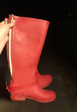 Red rain boots for Sale in Mesquite, TX