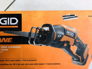 RIDGID 18-Volt OCTANE Cordless Brushless One-Handed Reciprocating Saw (Tool Only) for Sale in Pembroke Pines, FL