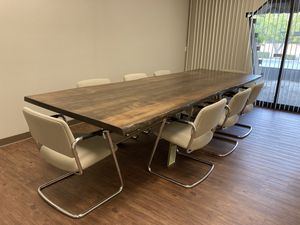Steelcase Cantilever Chairs - set of 10 for Sale in Fresno, CA