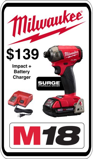BRAND NEW - Milwaukee 2760-20 M18 Fuel Surge Impact - Includes Charger and Battery - We accept trades & Credit Cards - AzBE Deals for Sale in Peoria, AZ
