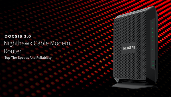 BRAND NEW! › › NETGEAR® Nighthawk™ DOCSIS 3.0 (AC1900) Cable Modem Router