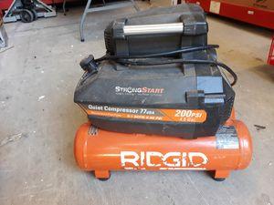 Ridgid 200 psi / 4.5 gal compressor for Sale in San Antonio, TX
