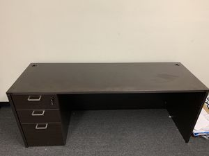 Dark Brown Office desk with drawers for Sale in Ontario, CA