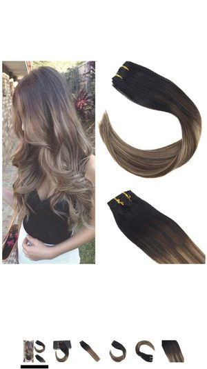 14 Piece Human Hair clip on Extensions Balayage for Sale in Pomona, CA