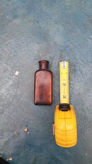 Small Antique Amber W. T. Co. Drug Bottle for Sale in Tacoma, WA