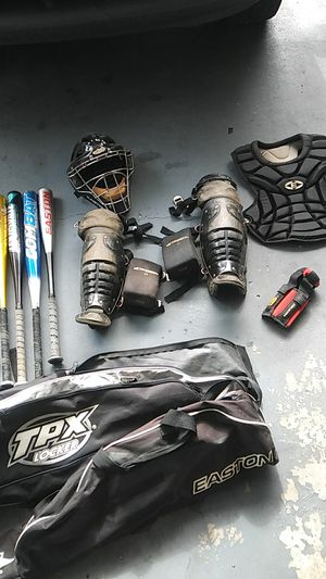 Baseball catcher equipment and more for Sale in Tampa, FL