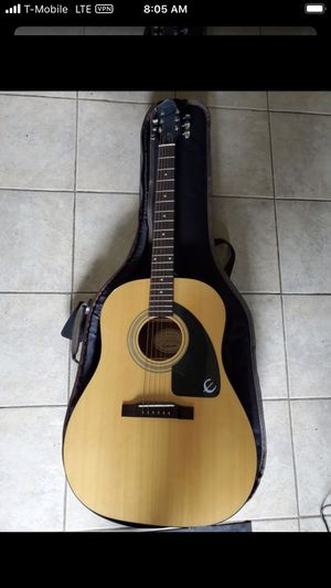 Epiphone AJ 1 NA w/ case, tuner, clamp, paperwork and picks for Sale in Fife, WA